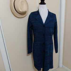 NWOT Exclusively misook cardigan black and blue S